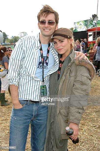 David Tennant and Billie Piper in the Virgin Mobile Louder Lounge at the V Festival