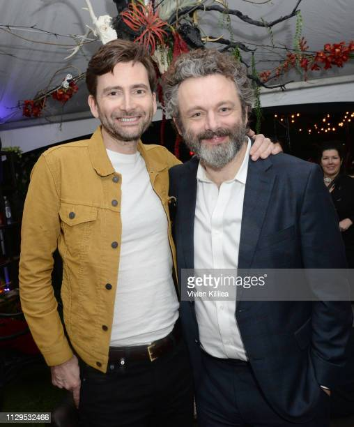 David Tennant and Michael Sheen attend Entertainment Weekly Amazon Prime Video's Saints Sinners Party At SXSW on March 9 2019 in Austin Texas