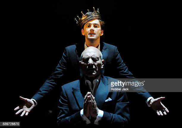 David Tennant and Patrick Stewart perform in the Royal Shakespeare Company's production of William Shakespeare's play 'Hamlet ' directed by Gregory...