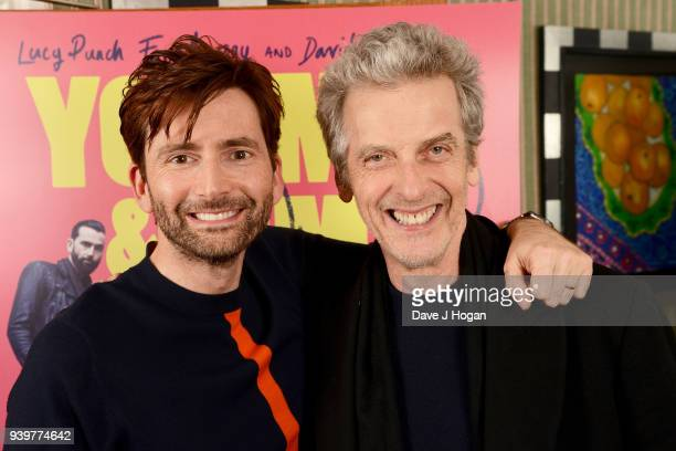 David Tennant and Peter Capaldi attend a special screening of 'You Me And Him' at Charlotte Street Hotel on March 29 2018 in London England