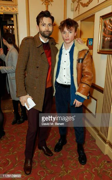 David Tennant and Tyler Tennant attend the press night performance of 'Ian McKellen On Stage' a special one man show celebrating his 80th birthday at...