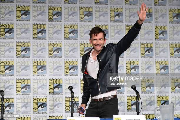 David Tennant arrives to the Call of Duty WWII Nazi Zombies Panel at San Diego Convention Center on July 20 2017 in San Diego California
