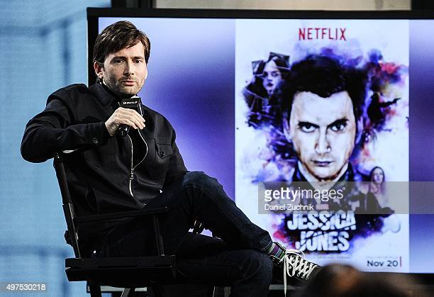 David Tennant attends AOL Build to discuss his new show 'Jessica Jones' at AOL Studios on November 17 2015 in New York City