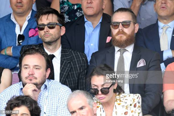 David Tennant attends day 13 of Wimbledon 2017 on July 16 2017 in London England