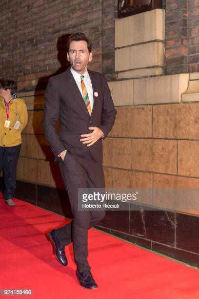 David Tennant attends the European Premiere of 'You Me and Him' during the 14th Glasgow Film Festival at Glasgow Film Theatre on February 25 2018 in...