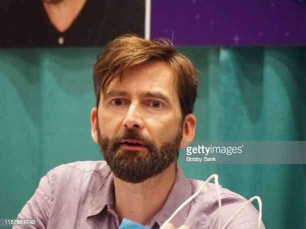 David Tennant attends the GalaxyCon Raleigh 2019 at Raleigh Convention Center on July 26 2019 in Raleigh North Carolina