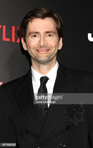 David Tennant attends the 'Jessica Jones' series premiere at Regal EWalk on November 17 2015 in New York City