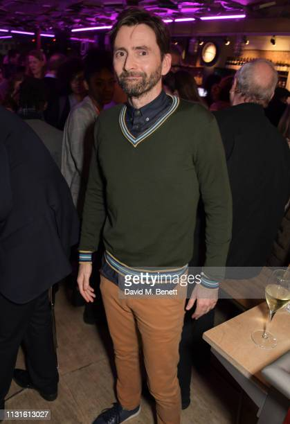 David Tennant attends the press night after party for 'The Life I Lead' at The Park Theatre on March 19 2019 in London England