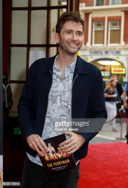 David Tennant attends the press night performance of The Ferryman at the Gielgud Theatre on June 29 2017 in London England