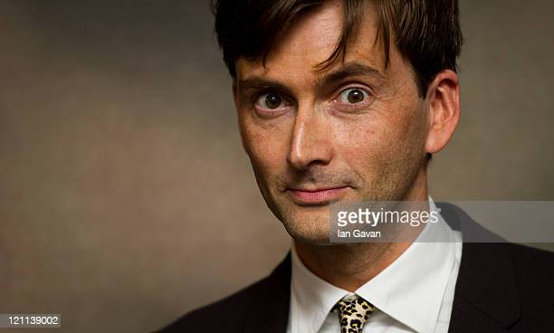 David Tennant attends the UK film premiere of Fright Night at the 02 Arena on August 14 2011 in London England