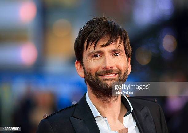 David Tennant attends the World Premiere of What We Did On Our Holiday at Odeon West End on September 22 2014 in London England