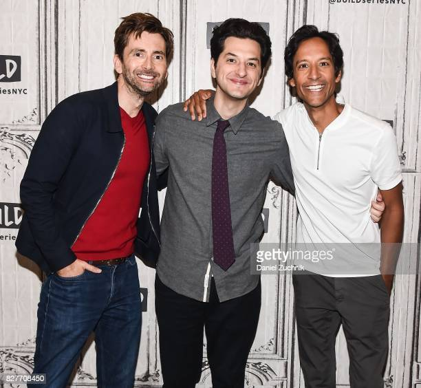David Tennant Ben Schwartz and Danny Pudi attend the Build Series to discuss the reboot of 'Duck Tales' at Build Studio on August 8 2017 in New York...