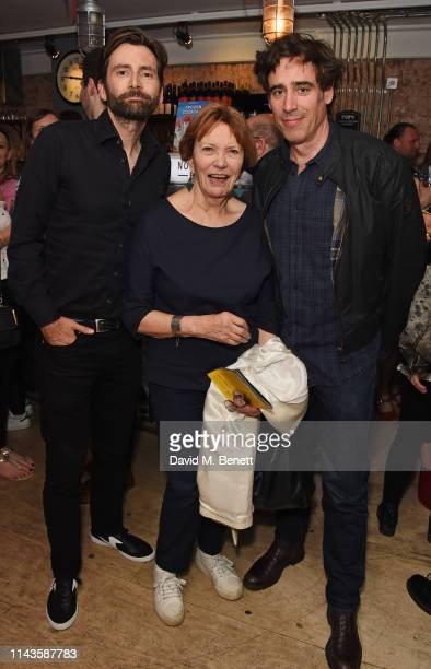 David Tennant Dame Joan Bakewell and Stephen Mangan attend the press night performance of The Last Temptation Of Boris Johnson at The Park Theatre on...