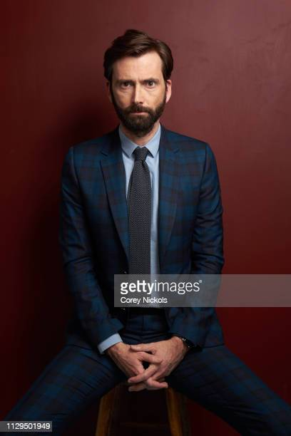 David Tennant of Amazon Prime Video's 'Good Omens' poses for a portrait at The Langham Huntington Pasadena on February 13 2019 in Pasadena California
