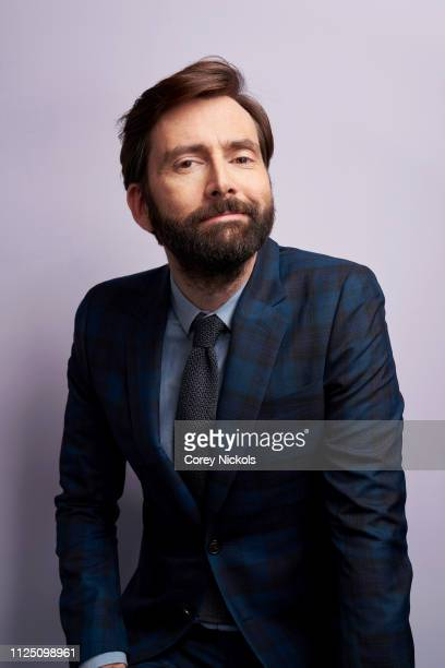 David Tennant of Amazon Prime's 'Good Omens' poses for a portrait at The Langham Huntington Pasadena on February 13 2019 in Pasadena California
