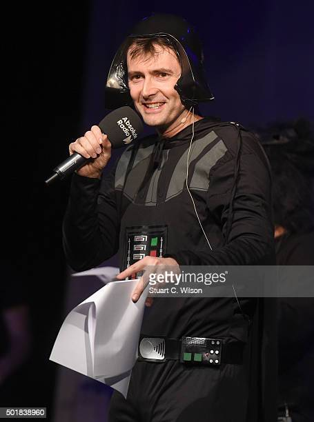 David Tennant performs at the annual Absolute Radio Pantomime at Leicester Square Theatre on December 18 2015 in London England