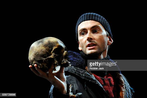 David Tennant performs in the Royal Shakespeare's production of William Shakespeare's play 'Hamlet ' directed by Gregory Doran at the Courtyard...