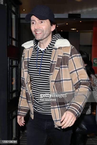 David Tennant seen leaving BBC Radio 2 on January 17 2020 in London England