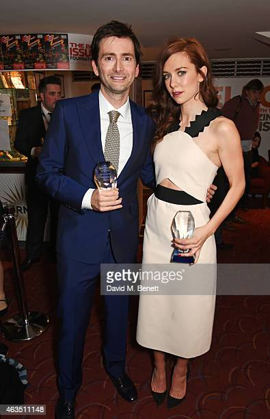 David Tennant winner of Best Actor in a Play for 'Richard II' and Vanessa Kirby winner of Best Supporting Actress in a Play for 'A Streetcar Named...