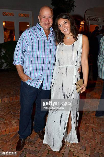 David Tepper and Casey Tepper attend the Apollo in the Hamptons 2016 party at The Creeks on August 20 2016 in East Hampton New York