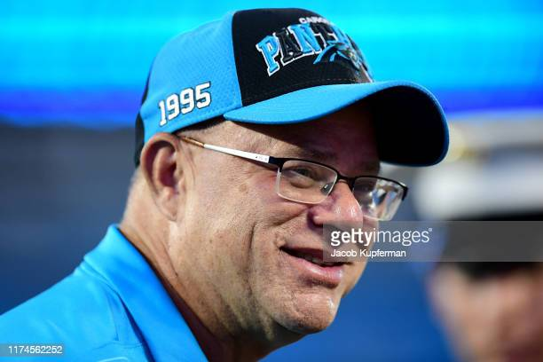 David Tepper before their game against the Tampa Bay Buccaneers at Bank of America Stadium on September 12 2019 in Charlotte North Carolina