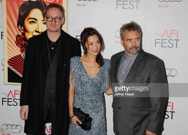 """David Thewlis, Michelle Yeoh and Luc Besson attend the AFI Fest 2011 Special Screening Of """"The Lady"""" held at the Grauman's Chinese Theatre on..."""