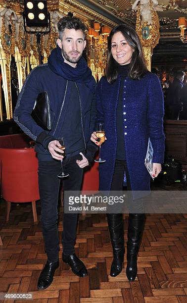 David Thielebeule and Alexa Brazilian attend the GRACE debut and AW14 dinner at Cafe Royal on February 15 2014 in London England
