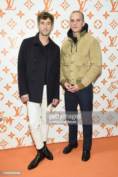 David Thielebeule and Jack Miner attend the Louis Vuitton X Grace Coddington Event on October 25 2018 in New York City