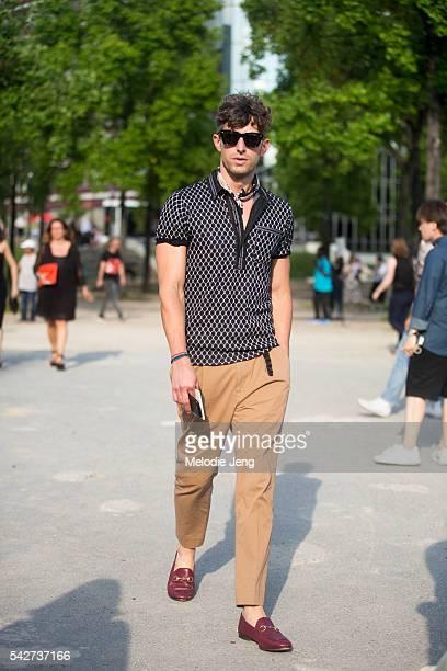 David Thielebeule before the Dries Van Noten show during Paris Men's Fashion Week SS17 on June 23 2016 in Paris France