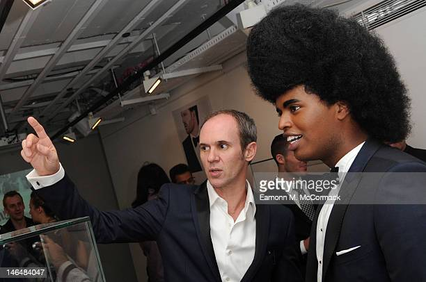 David Thomas and Prince Cassius attend a party to celebrate the new 'GENTLEMAN David Thomas X JBH' collection from David Thomas and Jason Arasheben...