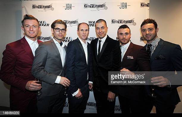 David Thomas Jason Arasheben and The Overtones attend a party to celebrate the new 'GENTLEMAN David Thomas X JBH' collection from David Thomas and...