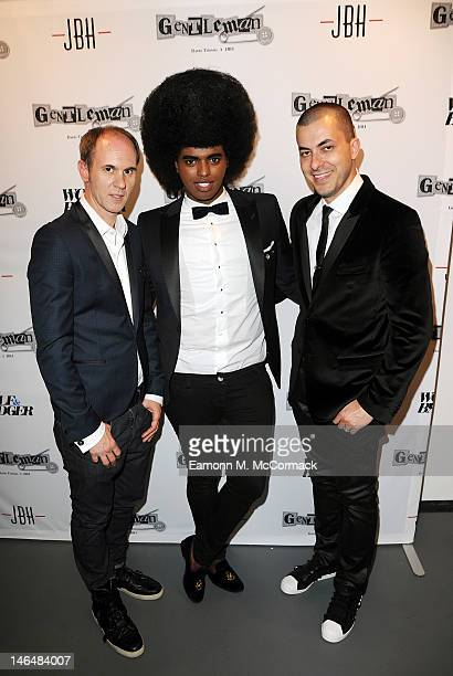 David Thomas Prince Cassius and Jason Arasheben attend a party to celebrate the new 'GENTLEMAN David Thomas X JBH' collection from David Thomas and...