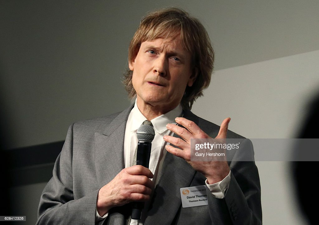 Reuters Chairman David Thomson Speaks In New York City : News Photo