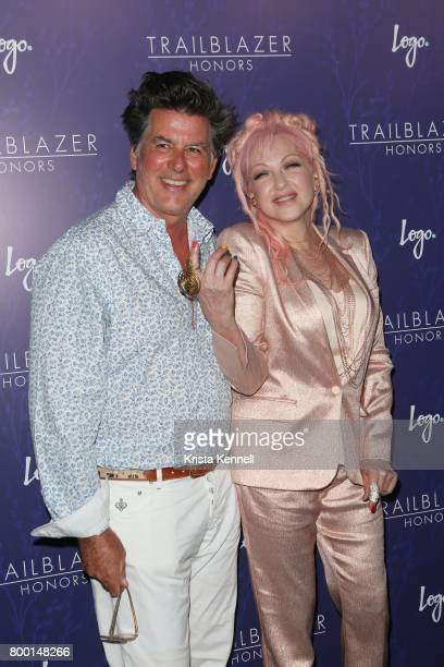 David Thornton and Cyndi Lauper attend Logo's 2017 Trailblazer Honors at The Cathedral Church of St John the Divine on June 22 2017 in New York City
