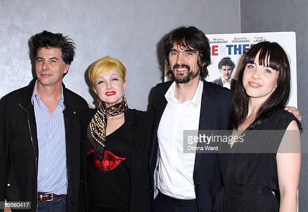 David Thornton Cyndi Lauper Darko Lungulov and Jelena Mrdja attend the premiere of ''Here There'' at Quad Cinema on May 14 2010 in New York City