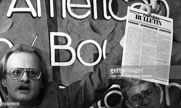 David Thorstad a founding member of NAMBLA North American Man/Boy Love Association shows a machine copy of what he says is a 1968 calender with photo...