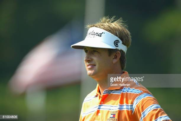 David Toms looks on during the proam prior to the start of the Buick Classic at the Westchester Country Club on June 9 2004 in Harrison New York