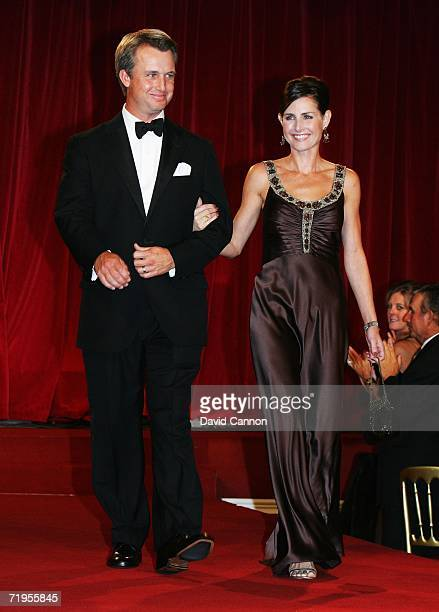 David Toms of USA and wife Sonya walk down the catwalk during the Ryder Cup Gala Dinner at Citywest Hotel and Golf Resort September 20 2006 in Dublin...