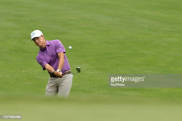 David Toms of USA hits toward the first green during the second round of The Ally Challenge presented by McLaren at Warwick Hills Golf & Country...