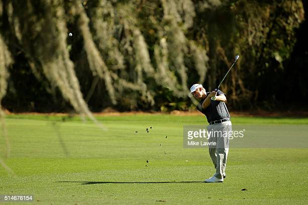 David Toms plays a shot on the second fairway during the first round of the Valspar Championship at Innisbrook Resort Copperhead Course on March 10...