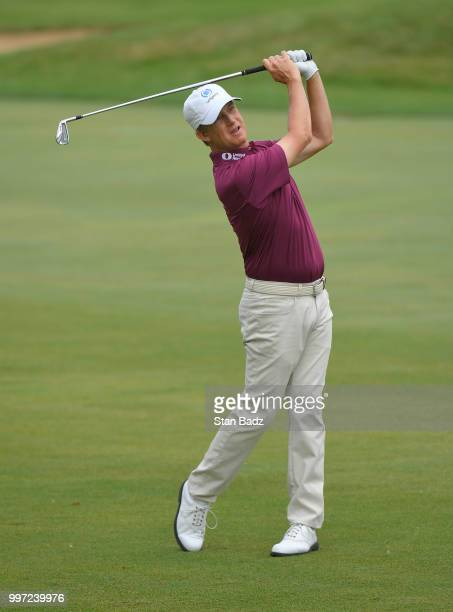 David Toms plays a shot on the third hole during the first round of the PGA TOUR Champions Constellation SENIOR PLAYERS Championship at Exmoor...