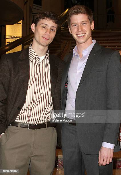 David Torcivia and Blake Mitchell attend the 83rd Annual Academy Awards mtvU Oscar Correspondent Contest Grand Prize Announcement on February 26 2011...