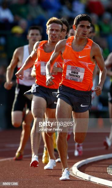 David Torrance runs the heat of the 1500m during day 1 of the USA Track and Field National Championships on June 25, 2009 at Hayward Field in Eugene,...