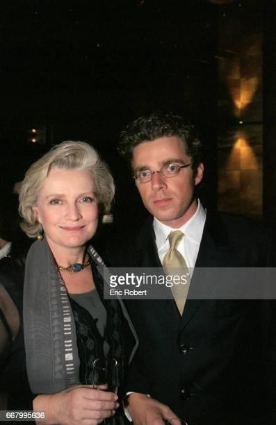 David Toscan du Plantier and his mother actress MarieChristine Barrault attend a benefit party for the Association pour la Vie Espoir contre le...