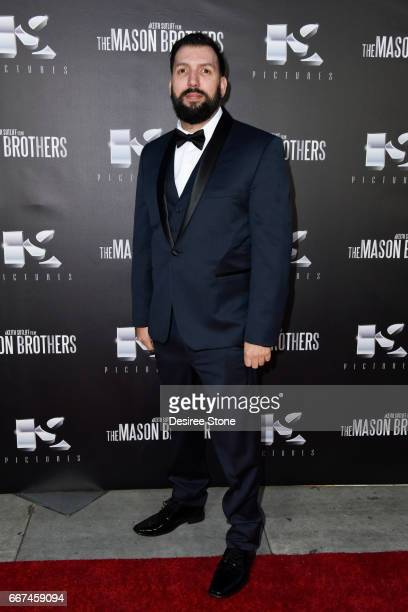 """David Trevino attends the premiere of """"The Mason Brothers"""" at the Egyptian Theatre on April 11, 2017 in Hollywood, California."""