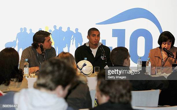David Trezeguet attends a pressconference during the Major adidas F50 Tunit Launch Event on February 13 2006 in Munich