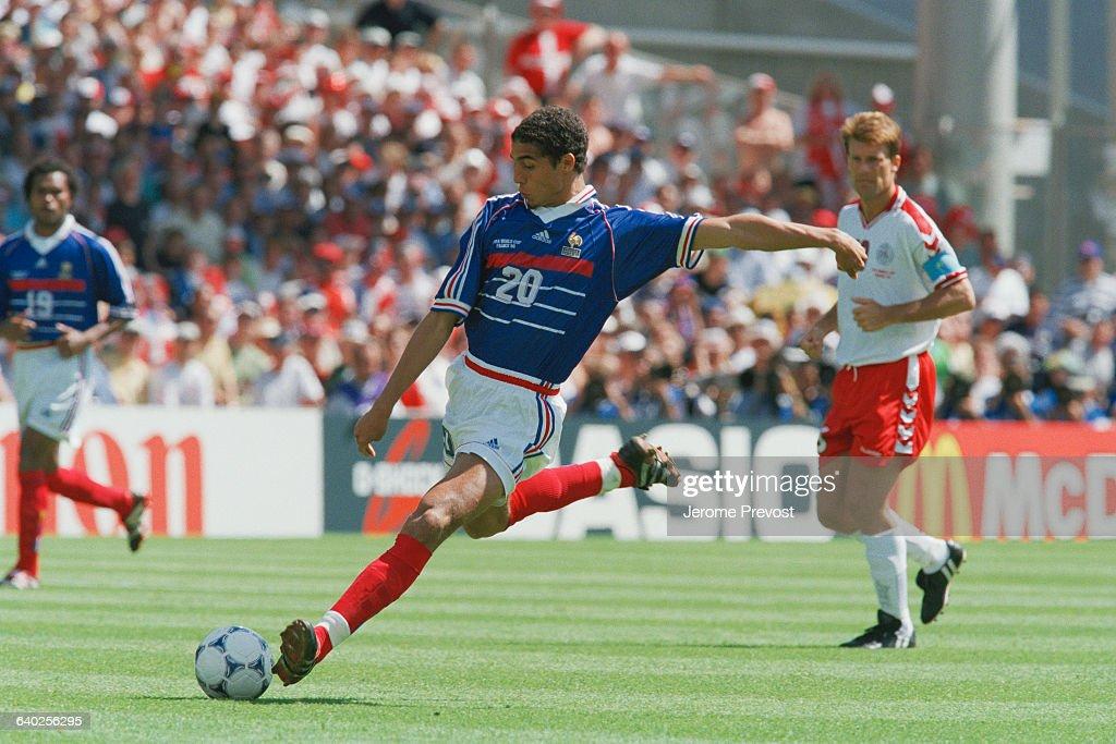 1998 FIFA World Cup: France vs. Denmark : News Photo