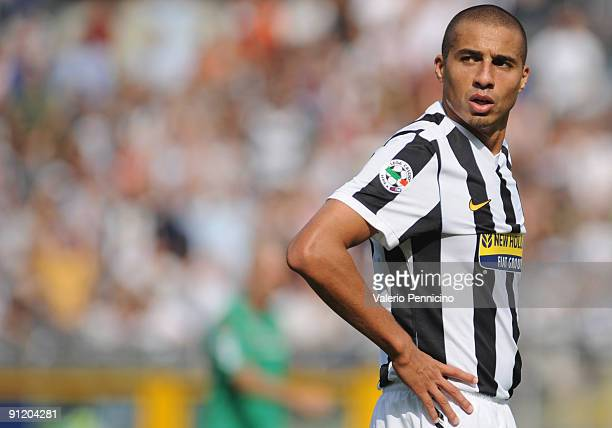 David Trezeguet of Juventus FC looks during the Serie A match between Juventus FC and Bologna FC at Olimpico Stadium on September 27 2009 in Turin...