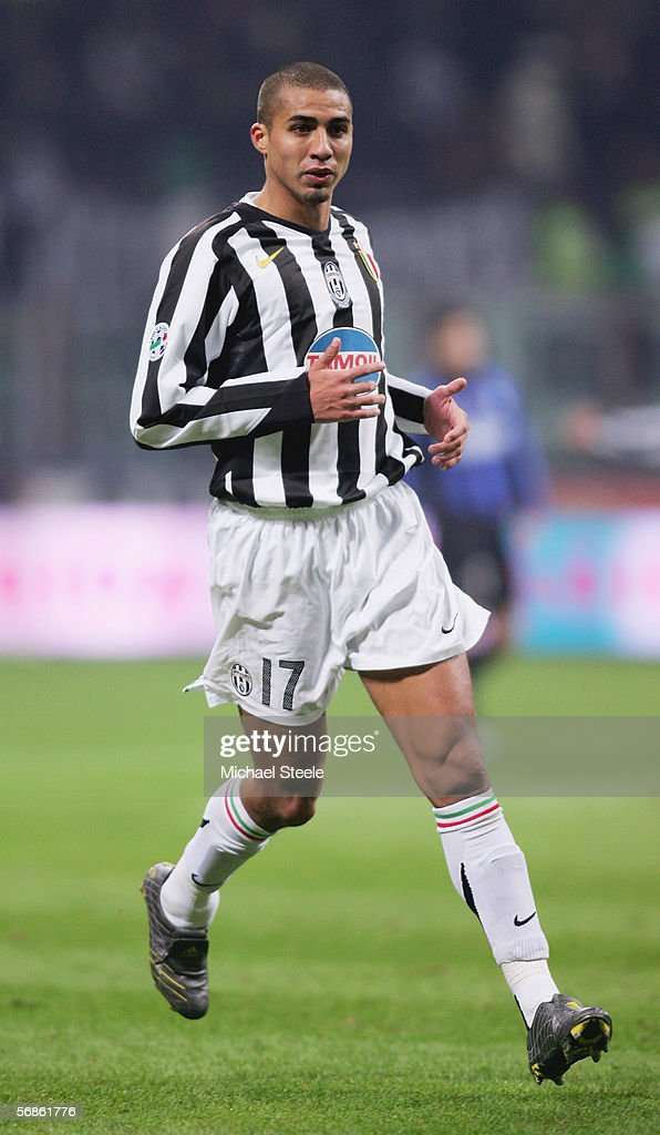 David Trezeguet of Juventus in action during the Serie A match between Inter Milan and Juventus at the Stadio San Siro on February 12, 2006 in Milan, Italy.