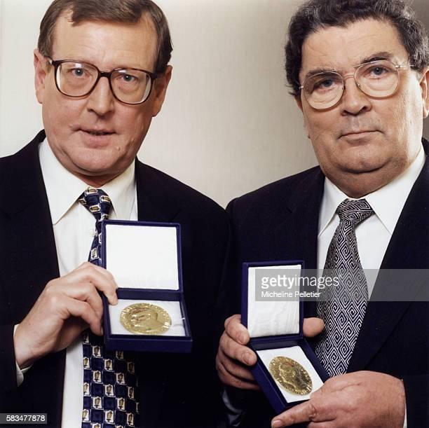 David Trimble and John Hume , 1998 Nobel Peace Prize.